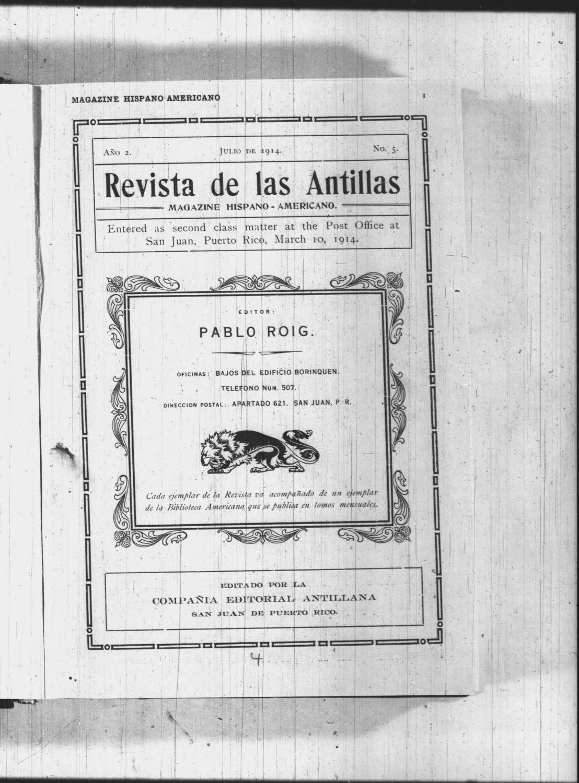 Revista De Las Antillas Julio 1914 By La Colección Puertorriqueña Issuu