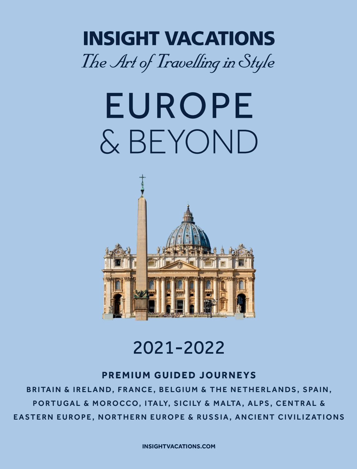 trabajo Discriminatorio medida  2021 Europe and Beyond   CA by Insight Vacations - issuu