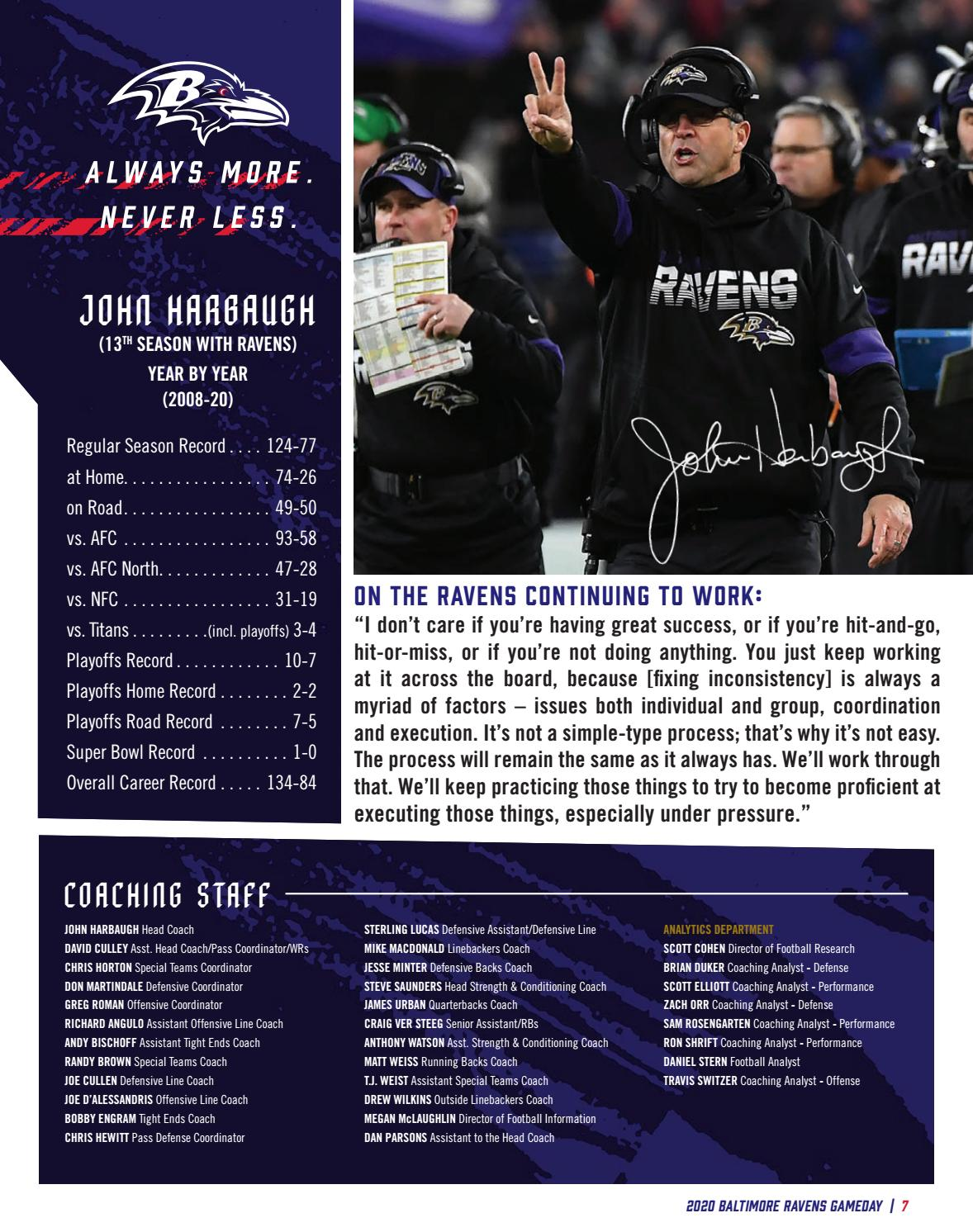 Gameday 11 22 Tennessee Titans Vs Baltimore Ravens By Baltimore Ravens Issuu