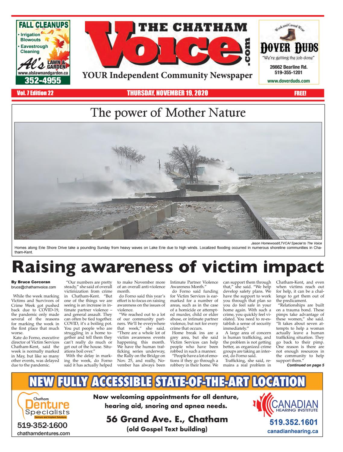 The Chatham Voice Nov 19 2020 By Chatham Voice Issuu