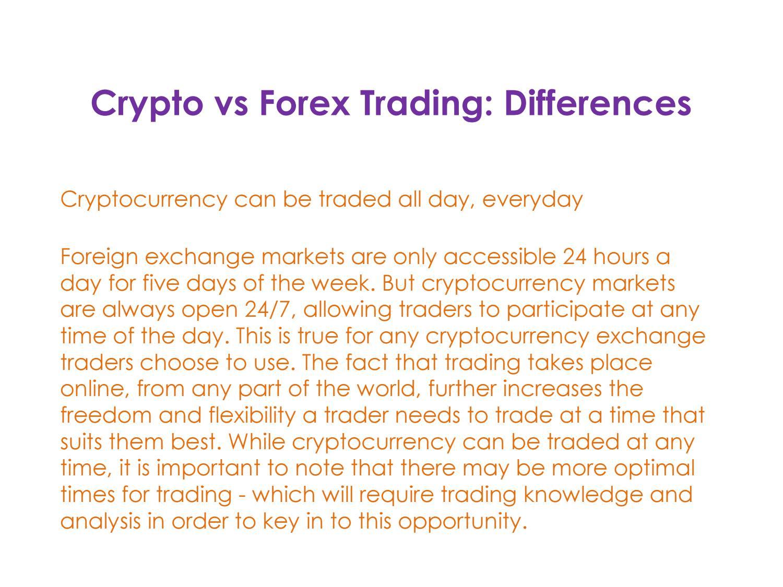 trading crypto vs forex)