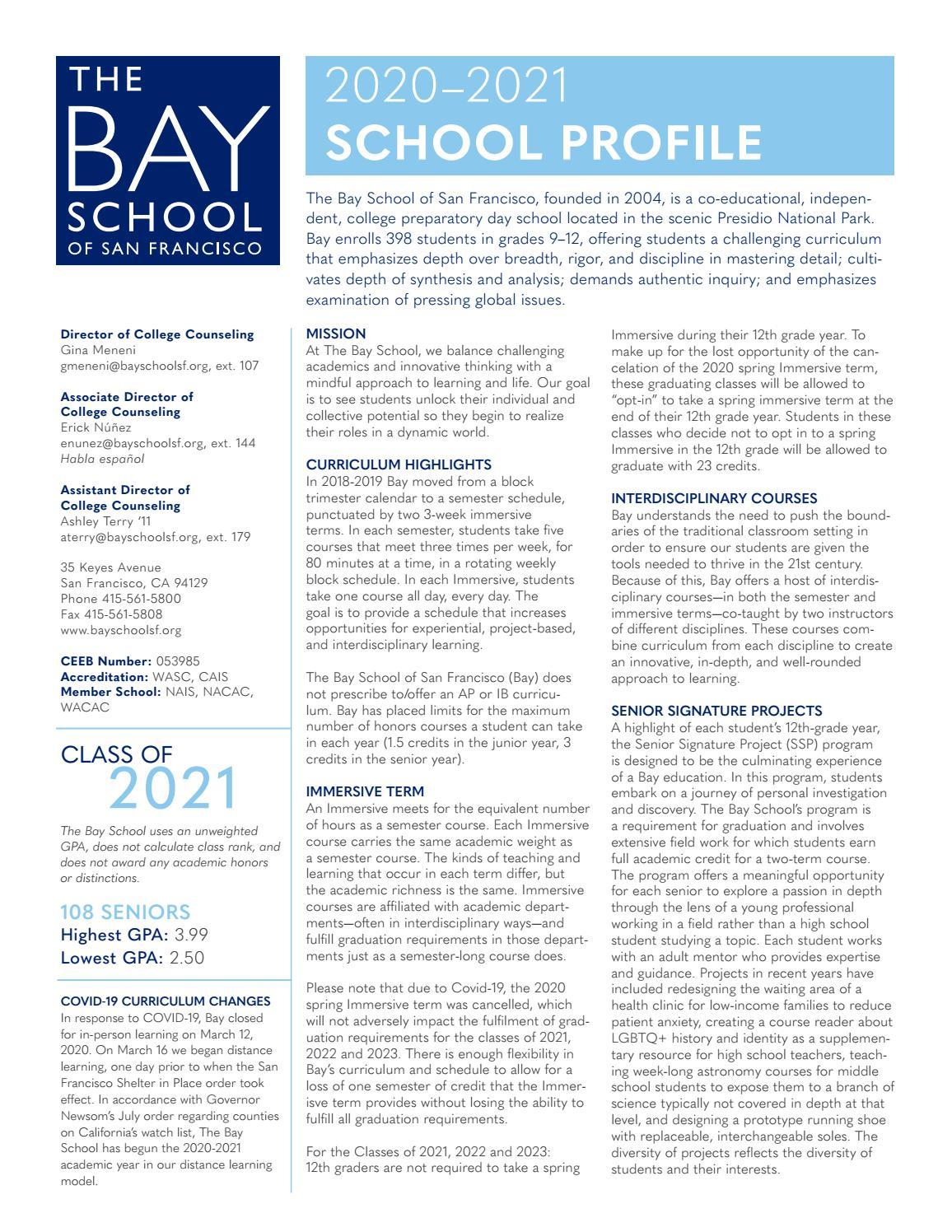 Ithaca College Academic Calendar Spring 2022.2020 2021 Bay School Profile By The Bay School Of San Francisco Issuu