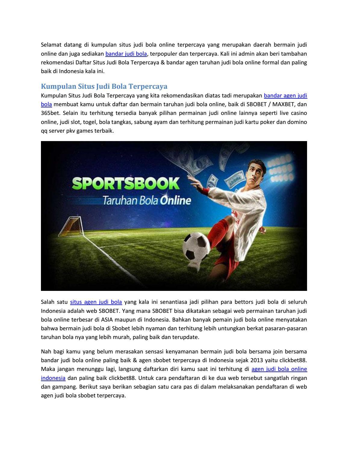 Kumpulan Situs Judi Bola Terpercaya By Bandar Agen Judi Bola Issuu