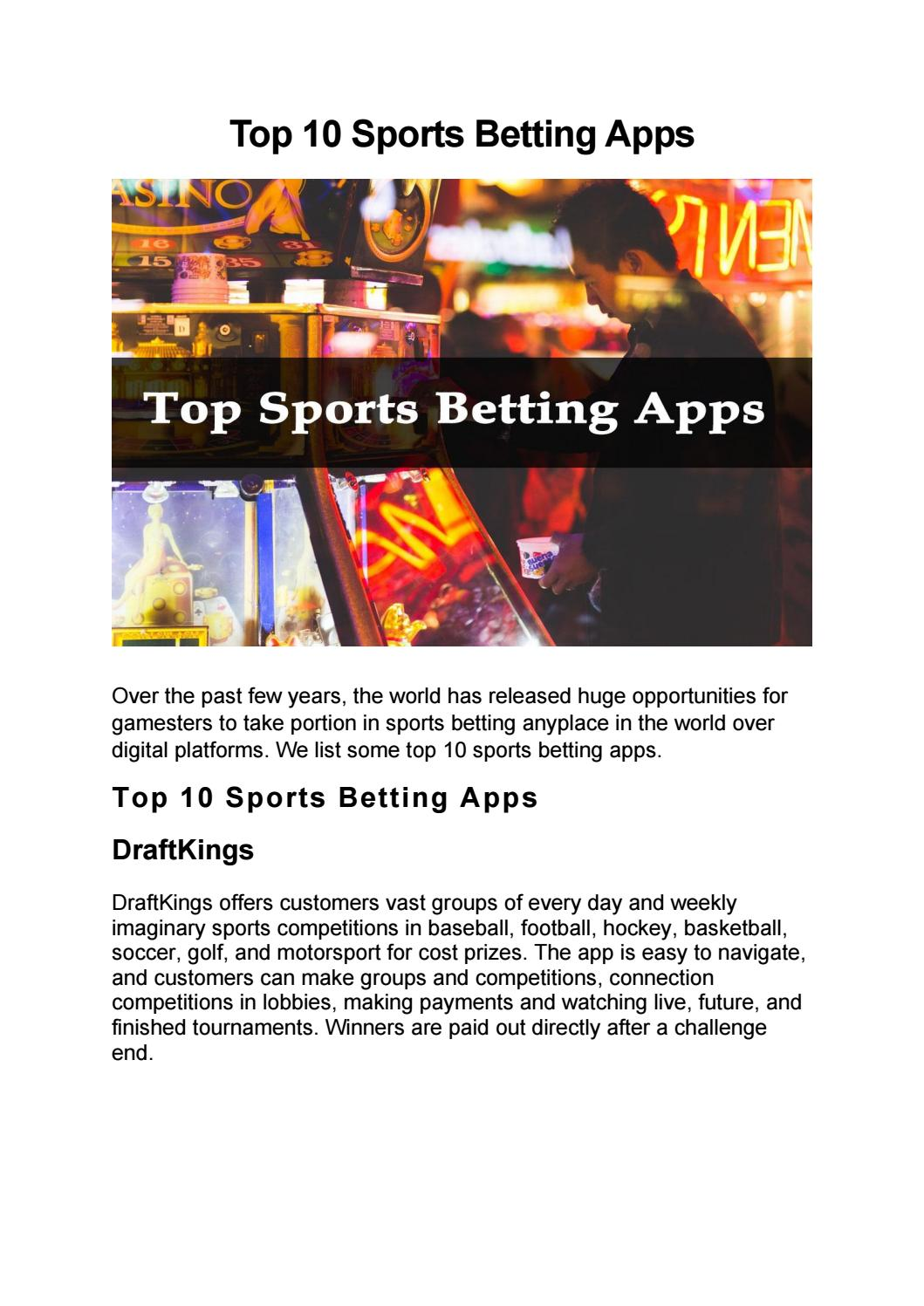 Top 10 sports betting apps ac milan vs bologna betting expert predictions
