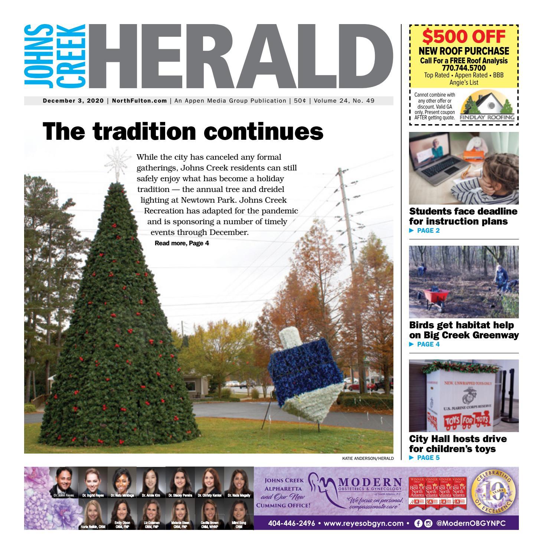 Johns Creek Herald December 3 2020 By Appen Media Group Issuu
