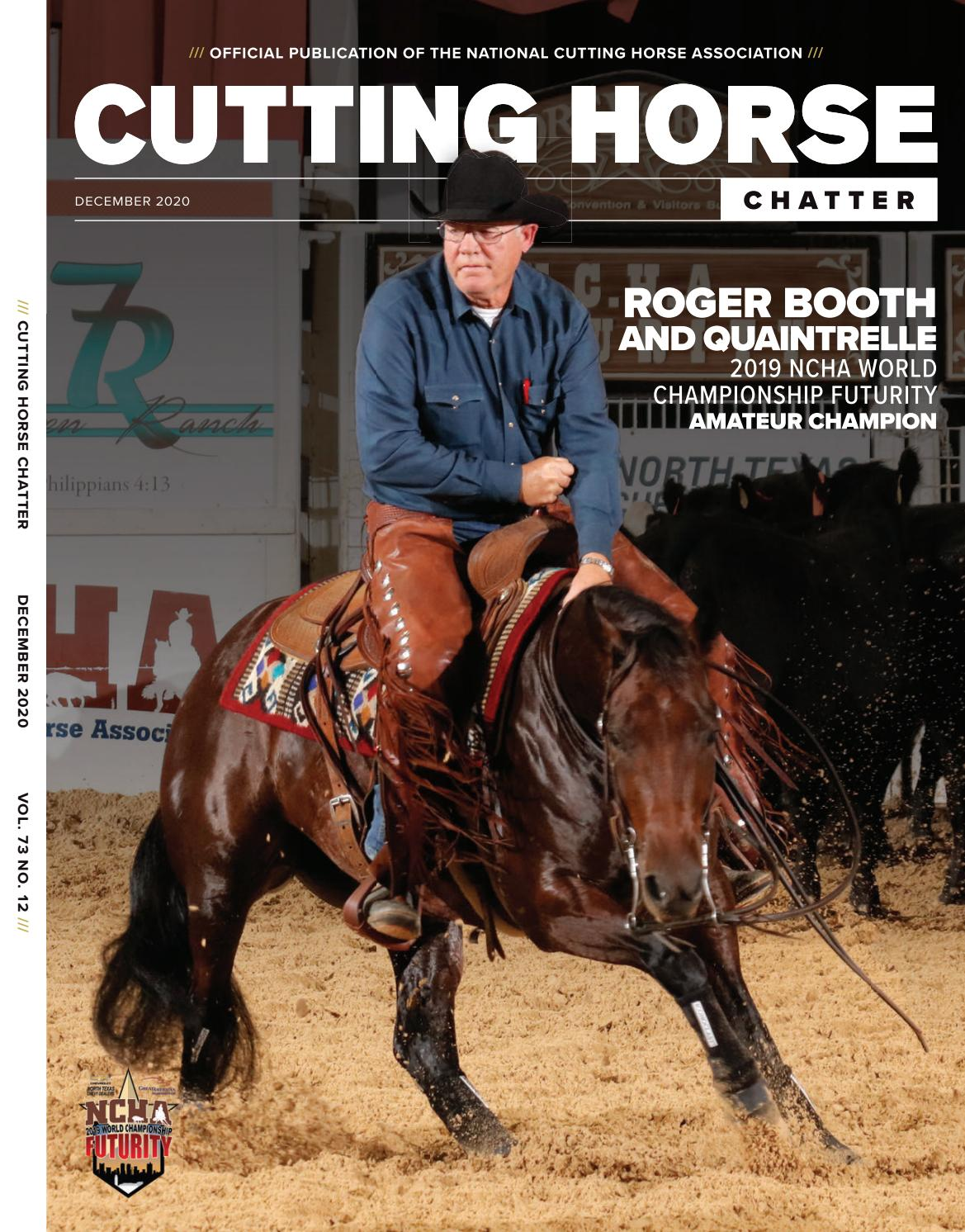NCHA Cutting Horse Chatter • December 2020 • Vol. 73. No. 12 by