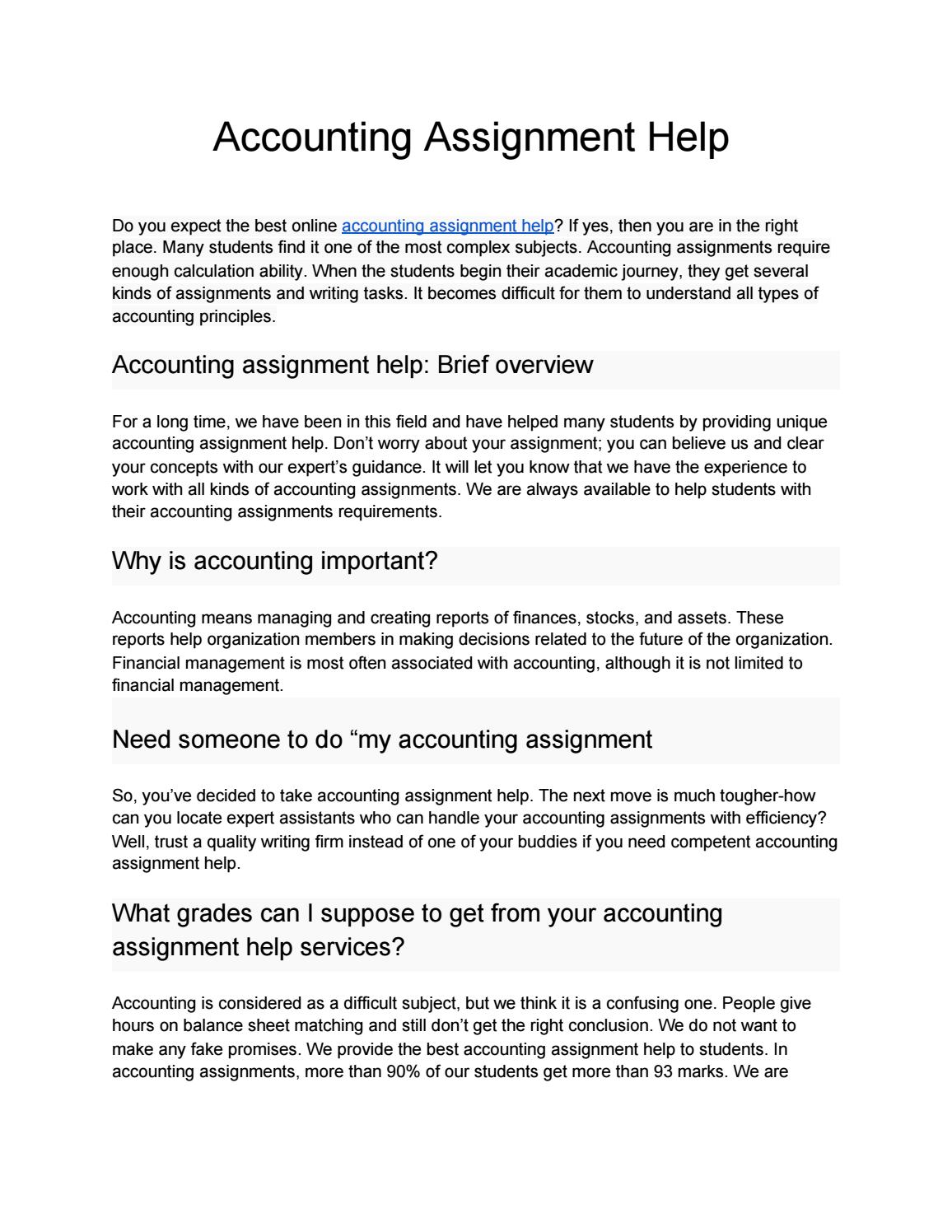 Assignment accounting cal poly career services resume