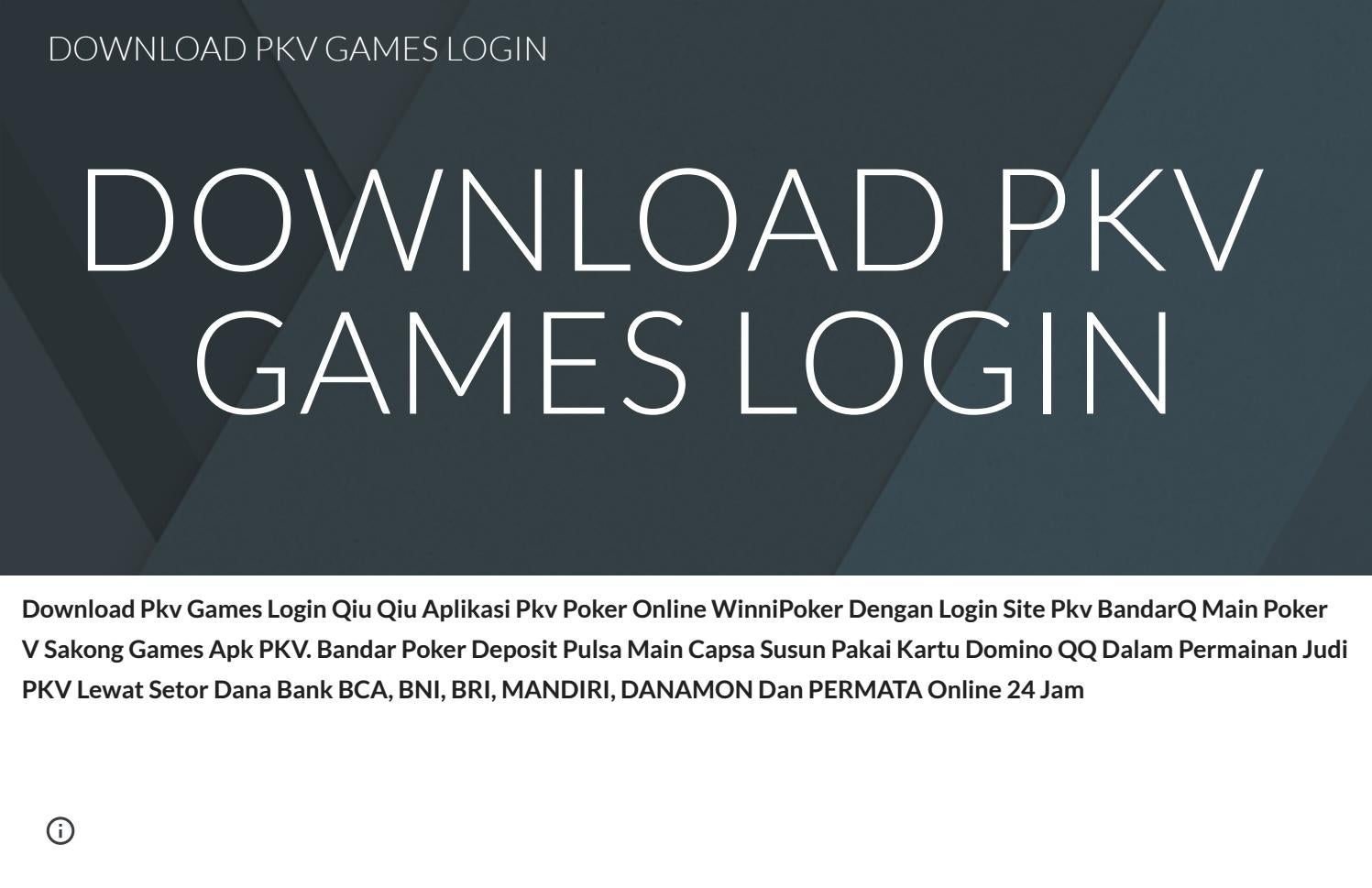Download Pkv Games Login Judiqq By Pkvjudiqq Pkv Judi Qq Pkv Games Dominoqq Bandarq Issuu