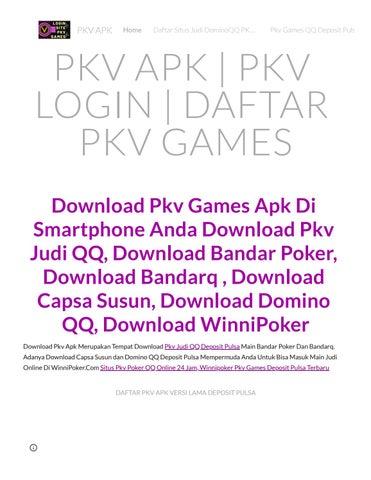 Pkv Apk Winnipoker Pkv Apk By Pkv Games Aduqq Deposit Pulsa 5000 10000 Issuu