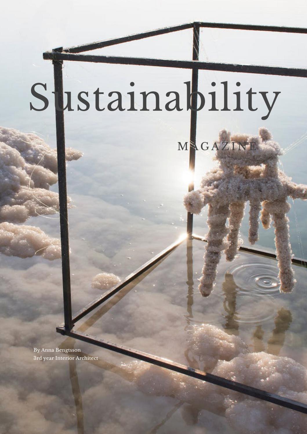 INT61_2 Sustainability essay magazine by Anna Madeleine Bengtsson ...