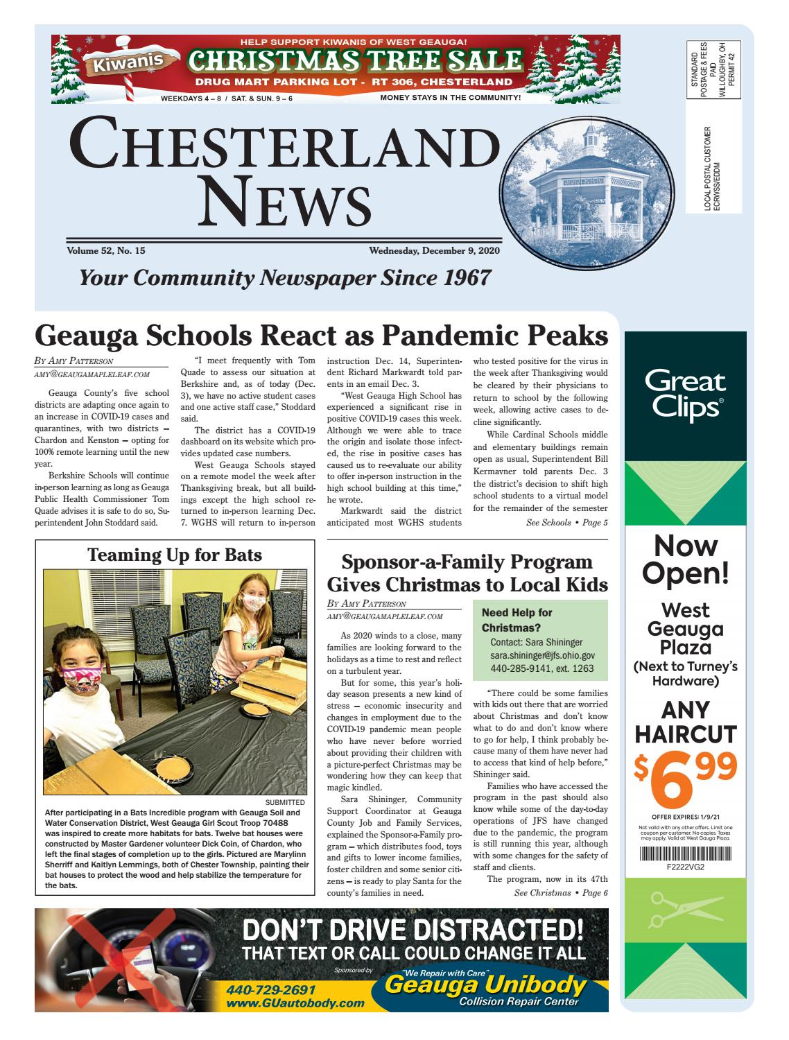 Chesterland News 12 09 2020 By Geauga County Maple Leaf Issuu