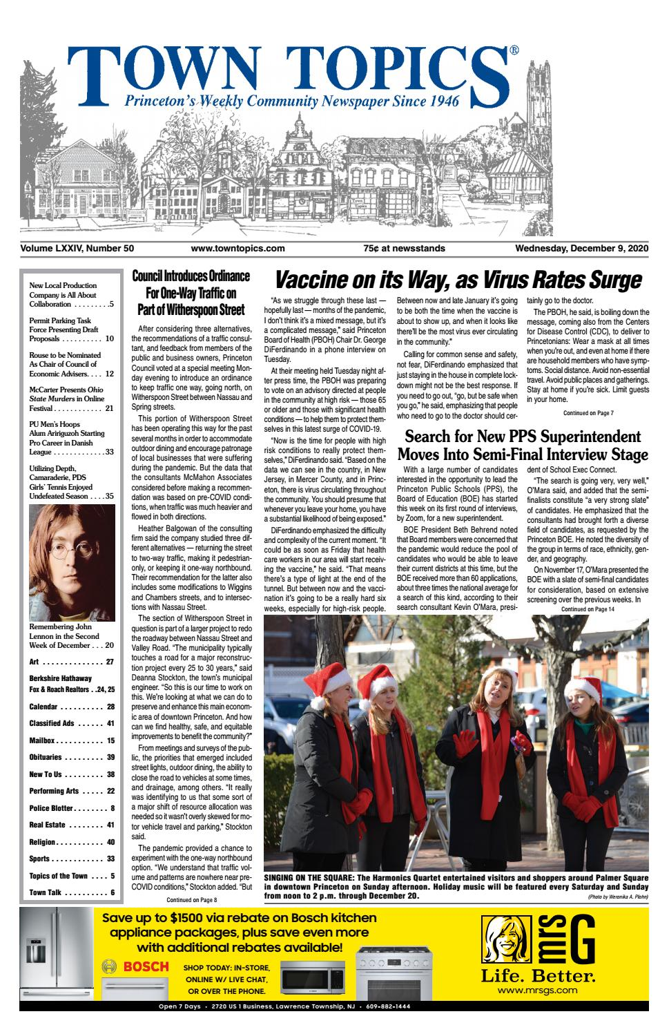 Town Topics Newspaper, December 9, 9 by Witherspoon Media Group ...