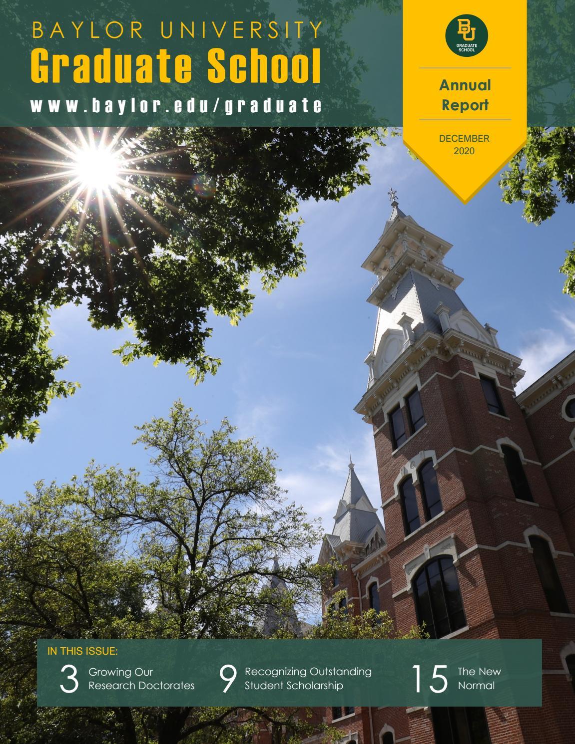 Baylor Spring 2022 Calendar.Baylor University Graduate School Annual Report 2020 By Baylor Graduate School Issuu