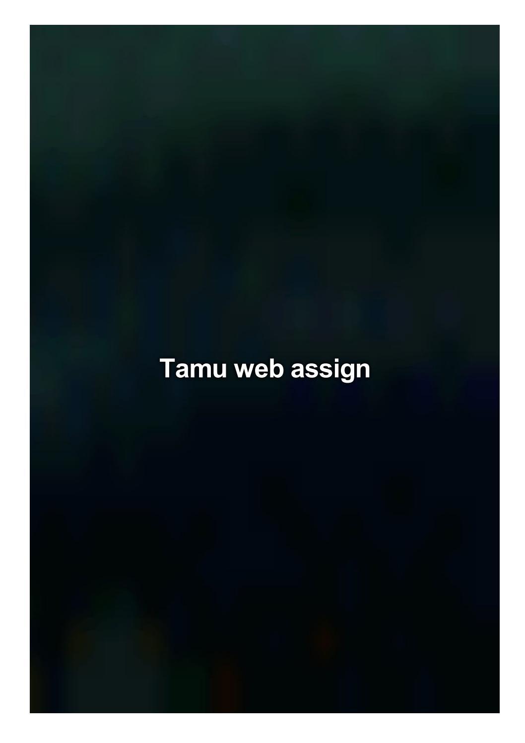 tamu webassign