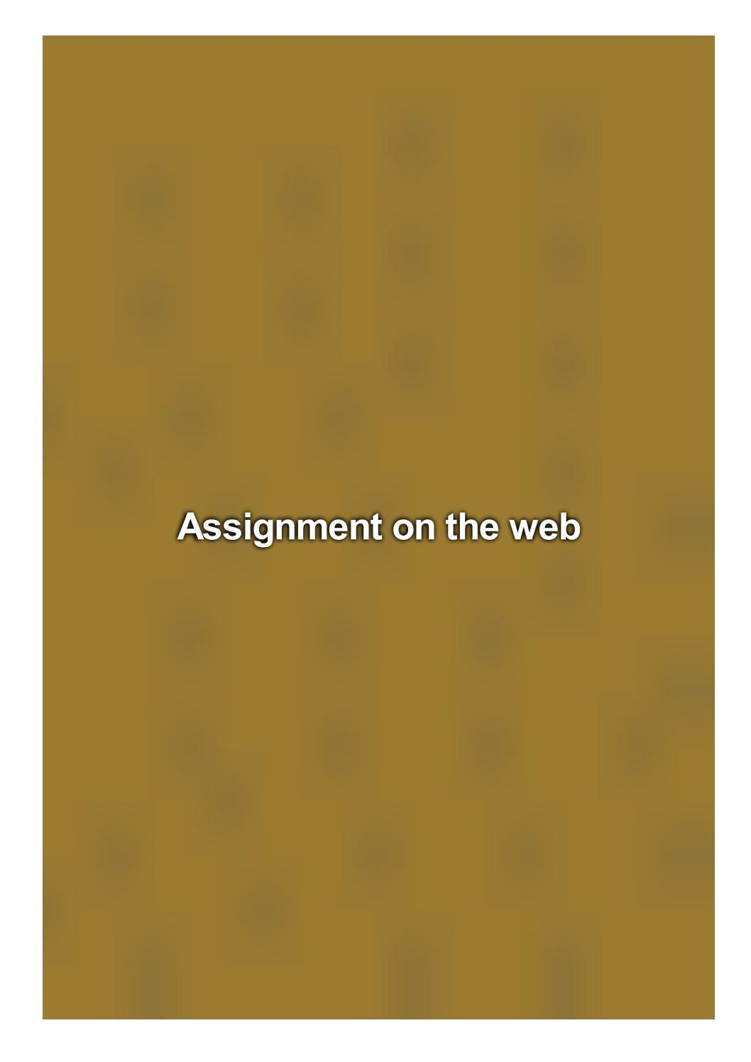 Assignment On The Web