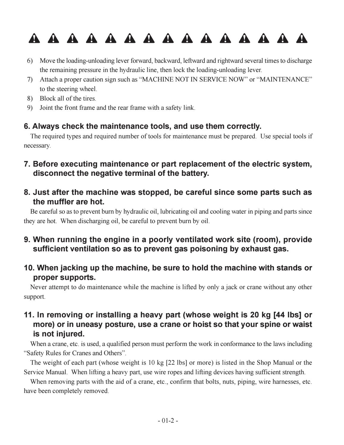 Hitachi LX110-7 LX130-7 LX160-7 LX190-7 LX230-7 Wheel Loader Workshop Manual - PDF DOWNLOAD page 10