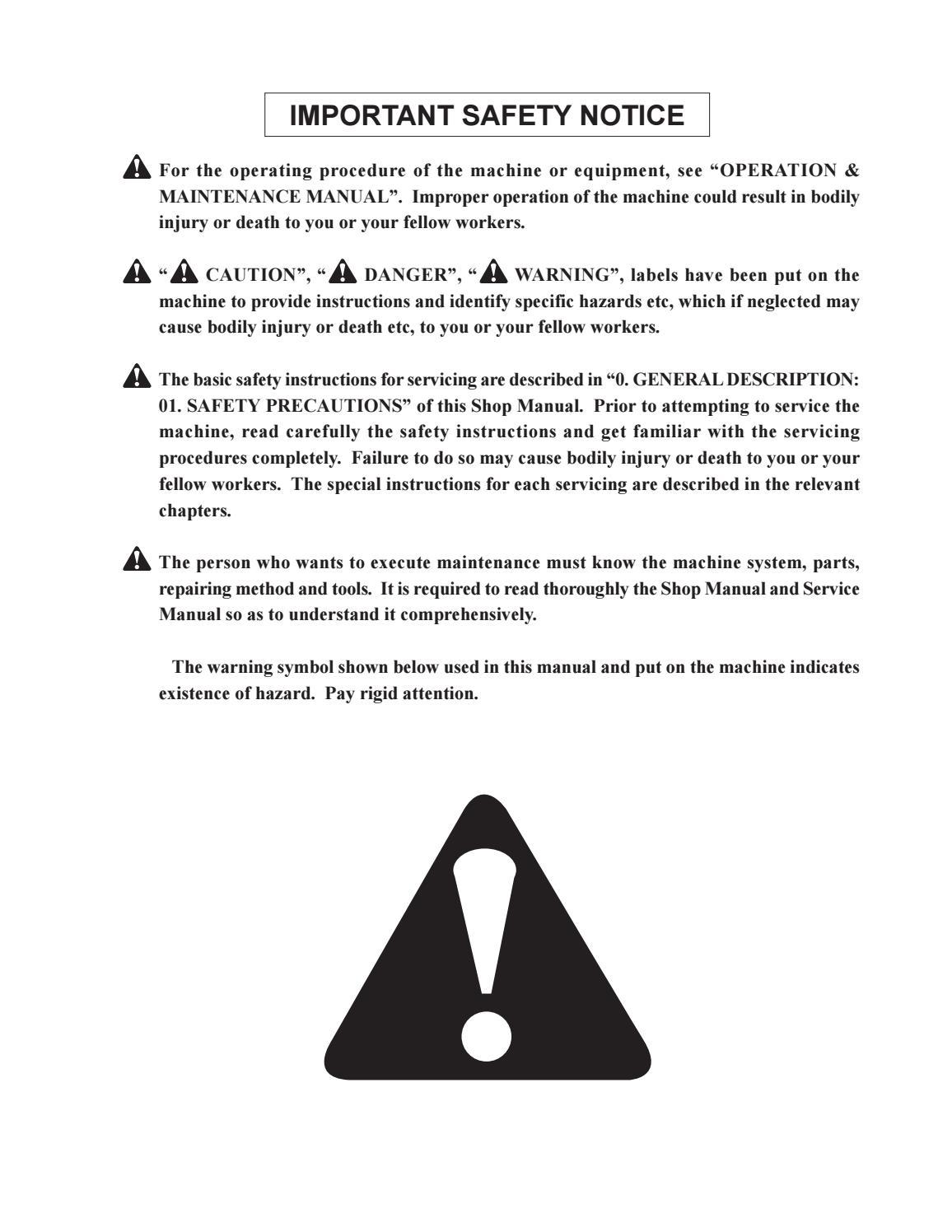Hitachi LX110-7 LX130-7 LX160-7 LX190-7 LX230-7 Wheel Loader Workshop Manual - PDF DOWNLOAD page 3