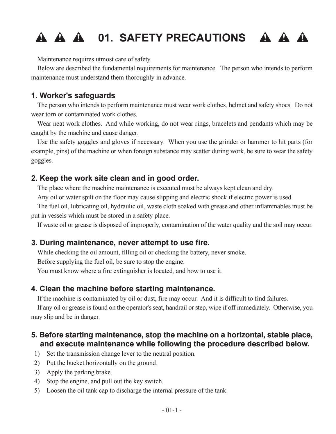 Hitachi LX110-7 LX130-7 LX160-7 LX190-7 LX230-7 Wheel Loader Workshop Manual - PDF DOWNLOAD page 9