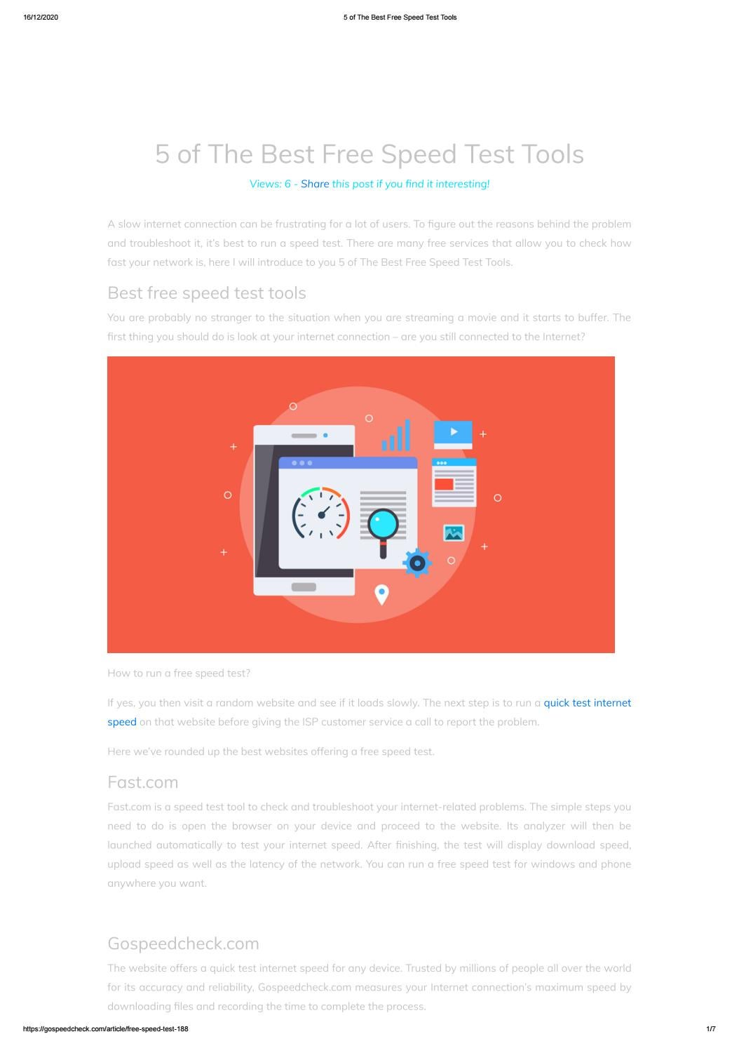 5 Of The Best Free Speed Test Tools By Gospeedcheck Com Issuu