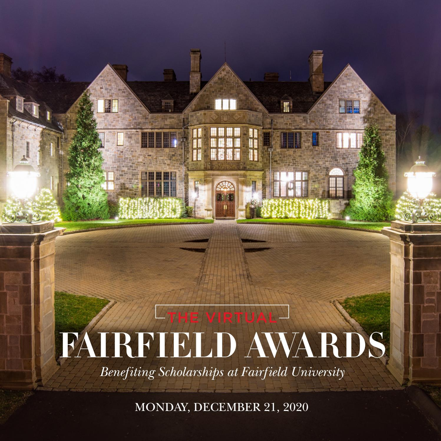 The Virtual Fairfield Awards 2020 By Fairfield University Issuu