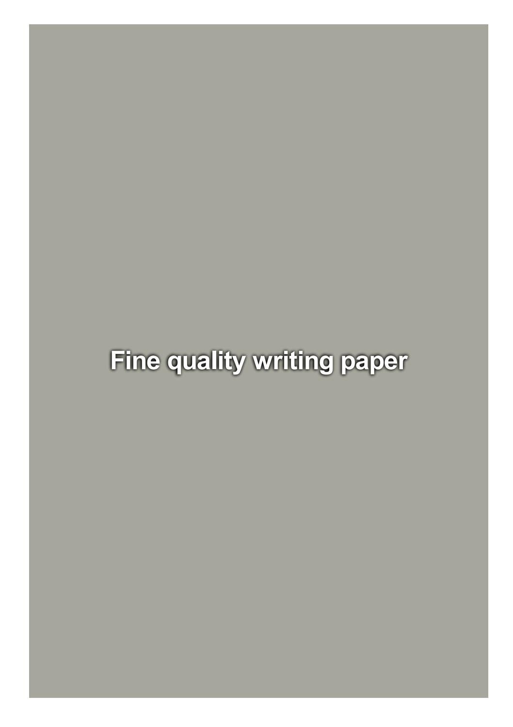 fine quality writing paper