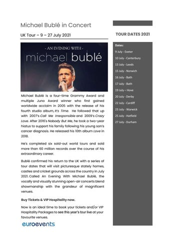 When Is Michael Buble Christmas Special 2021 Michael Buble By Info Mostexcellentweb Issuu