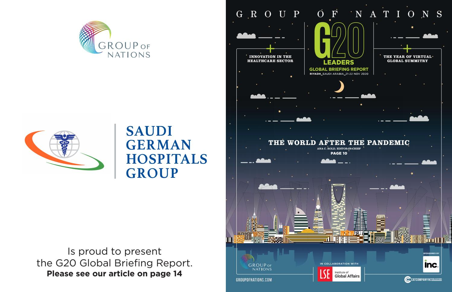 G20 Saudi Summit Saudi German Hospitals By The Group Of Nations Issuu