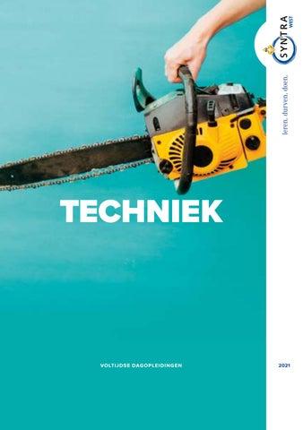 Syntra West sectorbrochure techniek VJ 2021