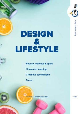 Syntra West sectorbrochure Design en Lifestyle VJ 2021