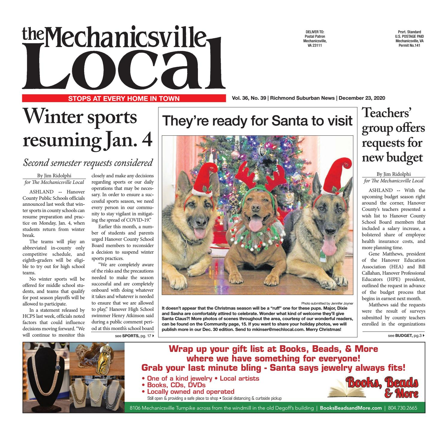 The Mechanicsville Local 12 23 2020 By The Mechanicsville Local Issuu