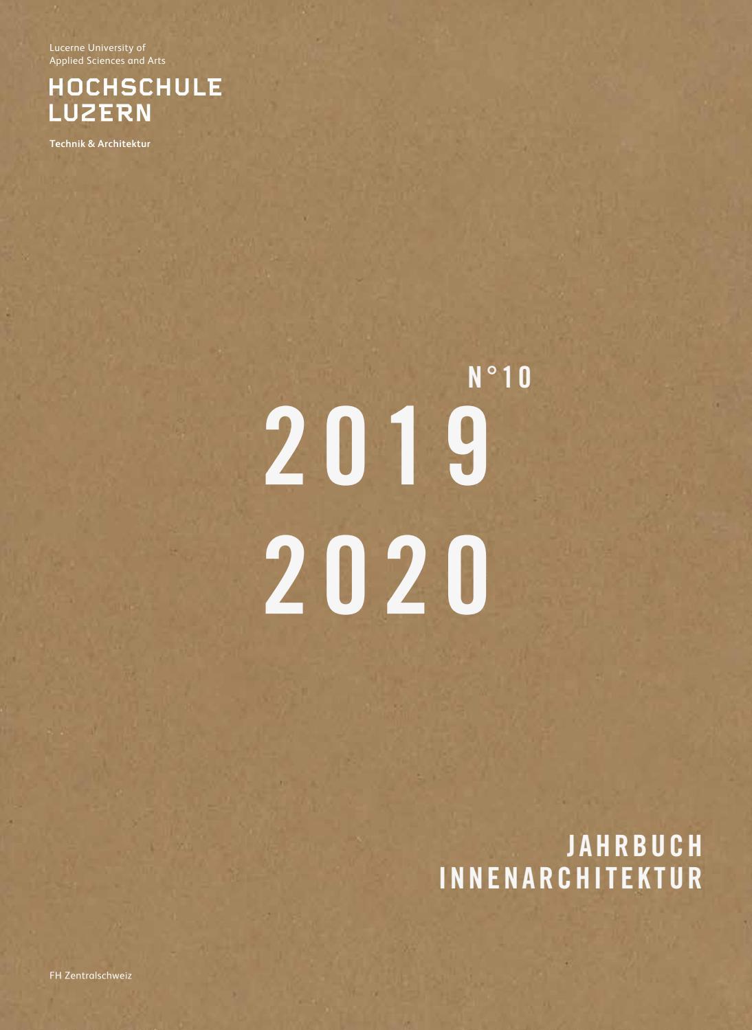 Jahrbuch 21 21 Institut für Innenarchitektur Hochschule Luzern ...