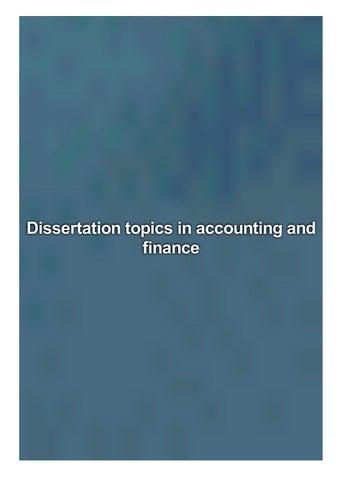 Dissertation topics in accounting shaq phd dissertation