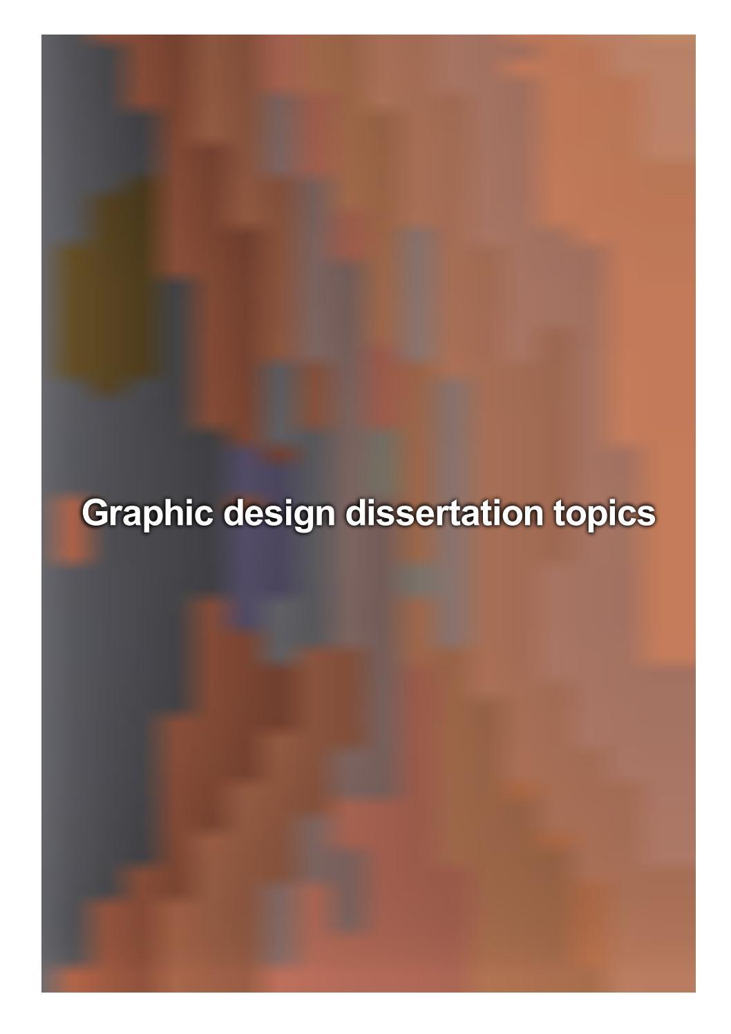 Graphic design dissertation topics dissertation support
