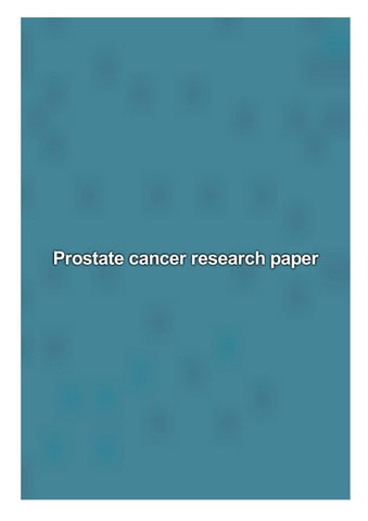 prostate cancer research paper
