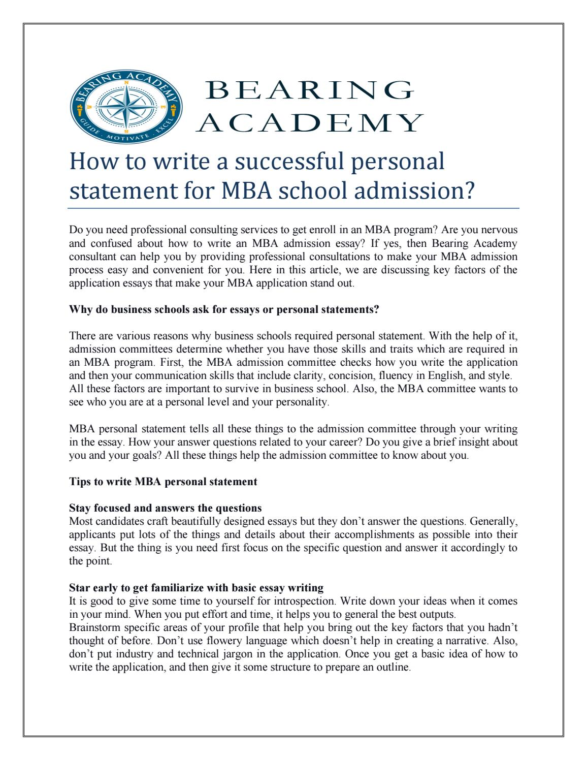 Professional personal statement writer site for mba books review site
