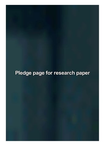 Pledge page for research paper college paper review
