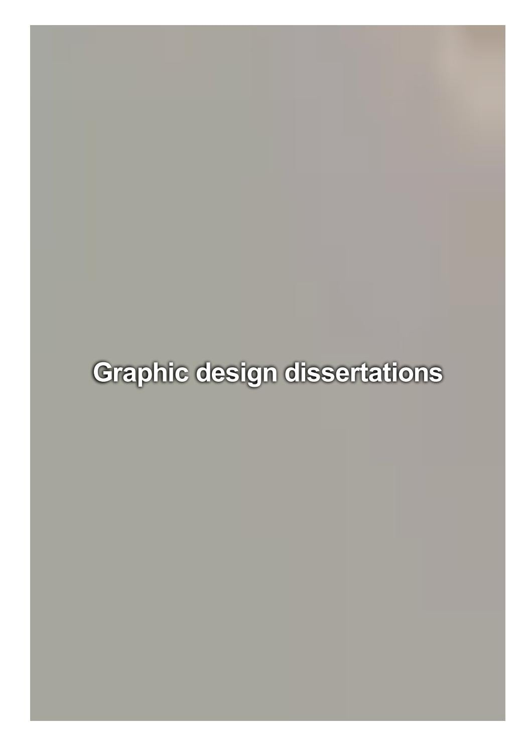 Graphic design dissertations write term paper