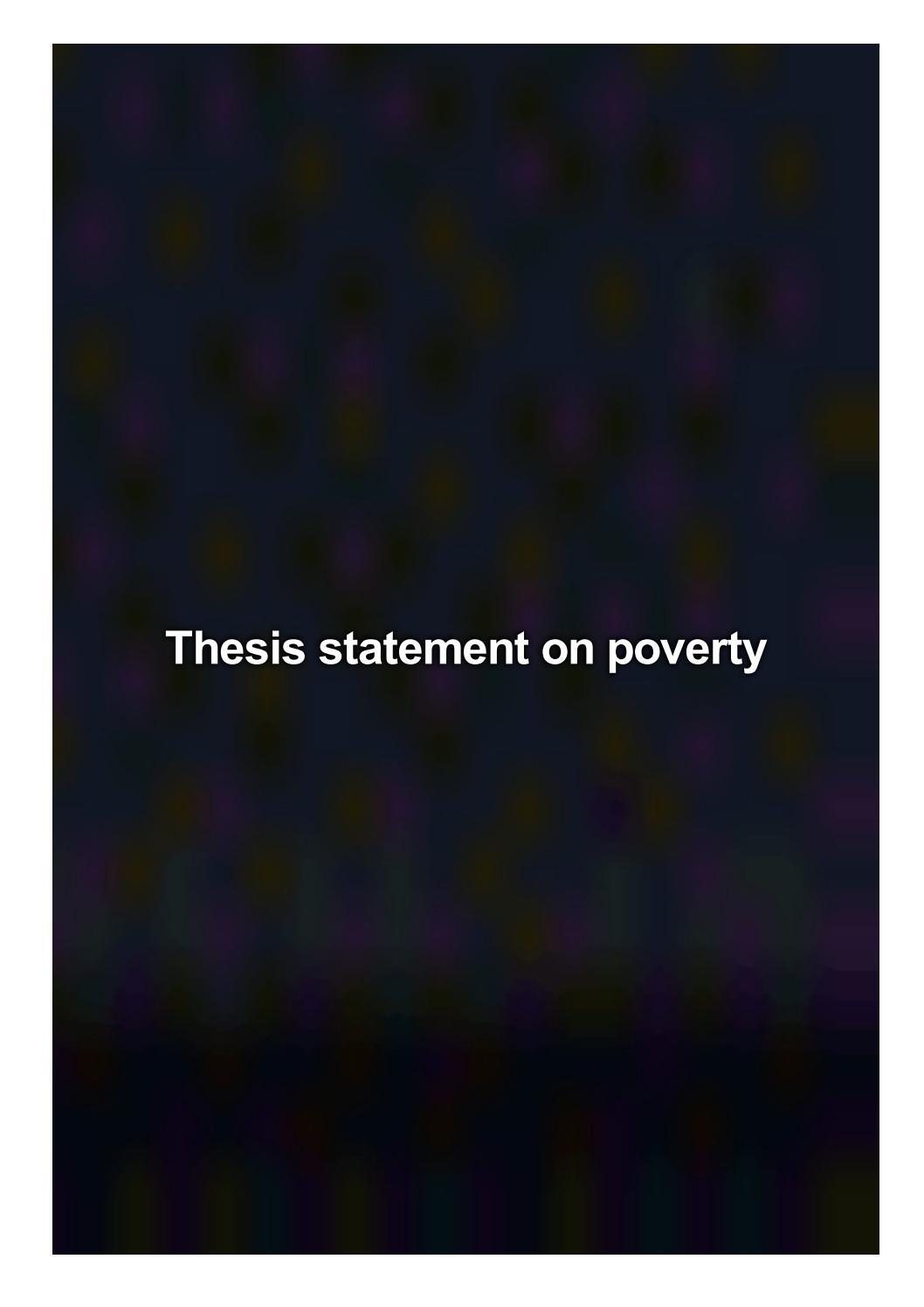 thesis poverty