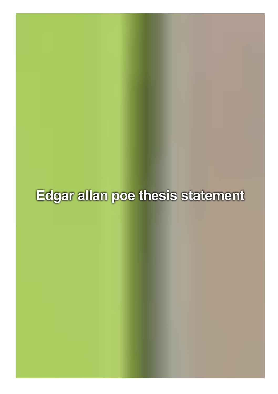 edgar allan poe thesis statements