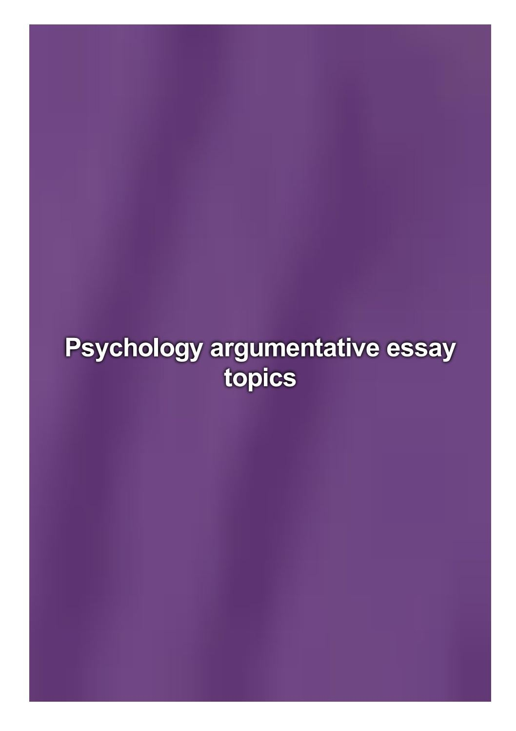 Psychology argumentative essay bibliography help
