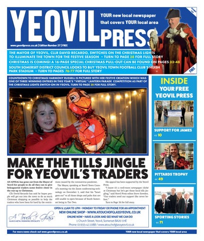 Yeovil Press Issue 27 December 2020 By Jrh Media Issuu
