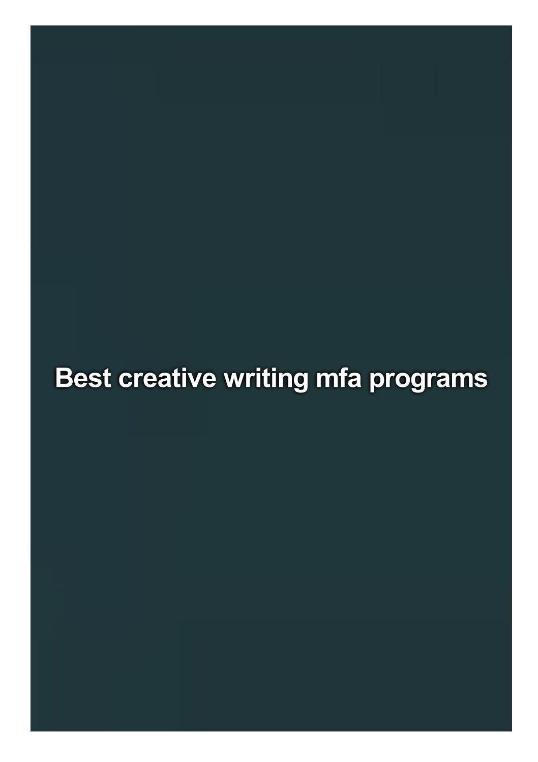 Best creative writing mfa essay writing on my favourite teacher