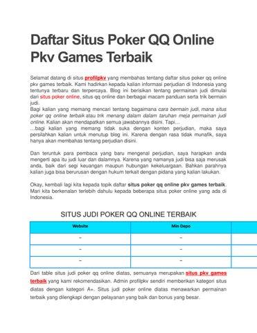 Porfilpkv Daftar Situs Poker Online Terpercaya By Profil Pkv Issuu