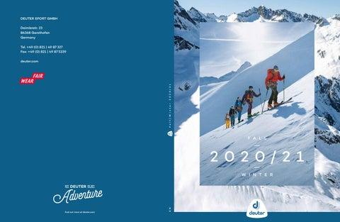 Deuter Catalogo Winter 2020 21 By Mountainblogit Issuu