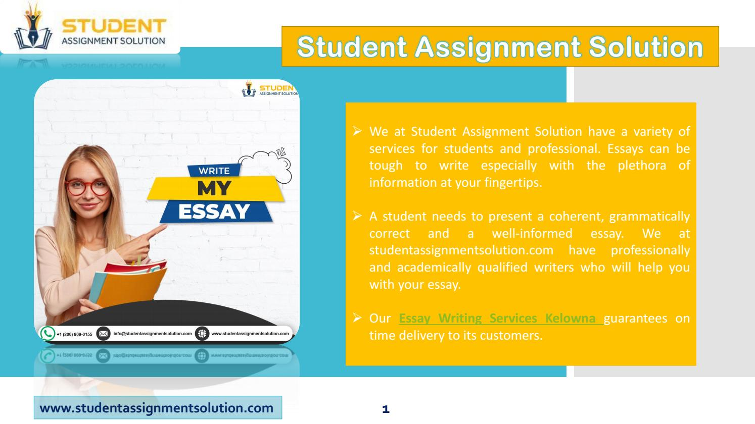 High Quality College Essay Writing Service in Canada