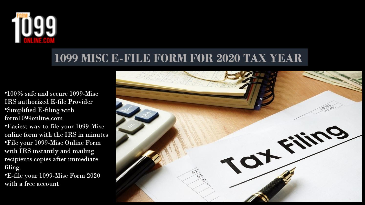E-File 1099 MISC Free | Fillable Form 1099 MISC | 1099 E File Service