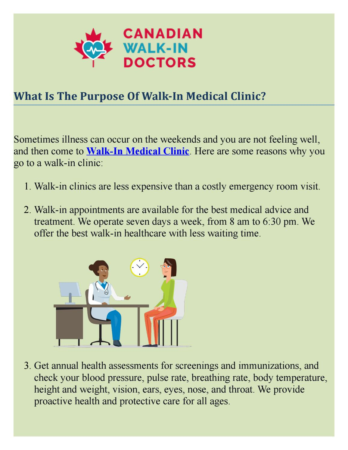 Best Walk-In Medical Clinic For Medical Treatment - Canadian Walk-in Doctors