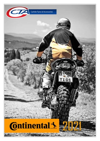 """Cover of """"CONTINENTAL MOTORCYCLE TYRES CTA 2021"""""""