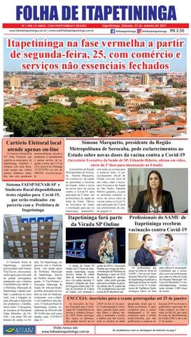 Folha de Itapetininga 23/01/2021 (Sabado)
