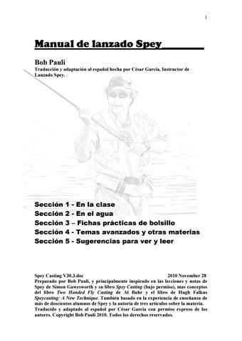 """Cover of """"Manual de lanzado Spey"""""""